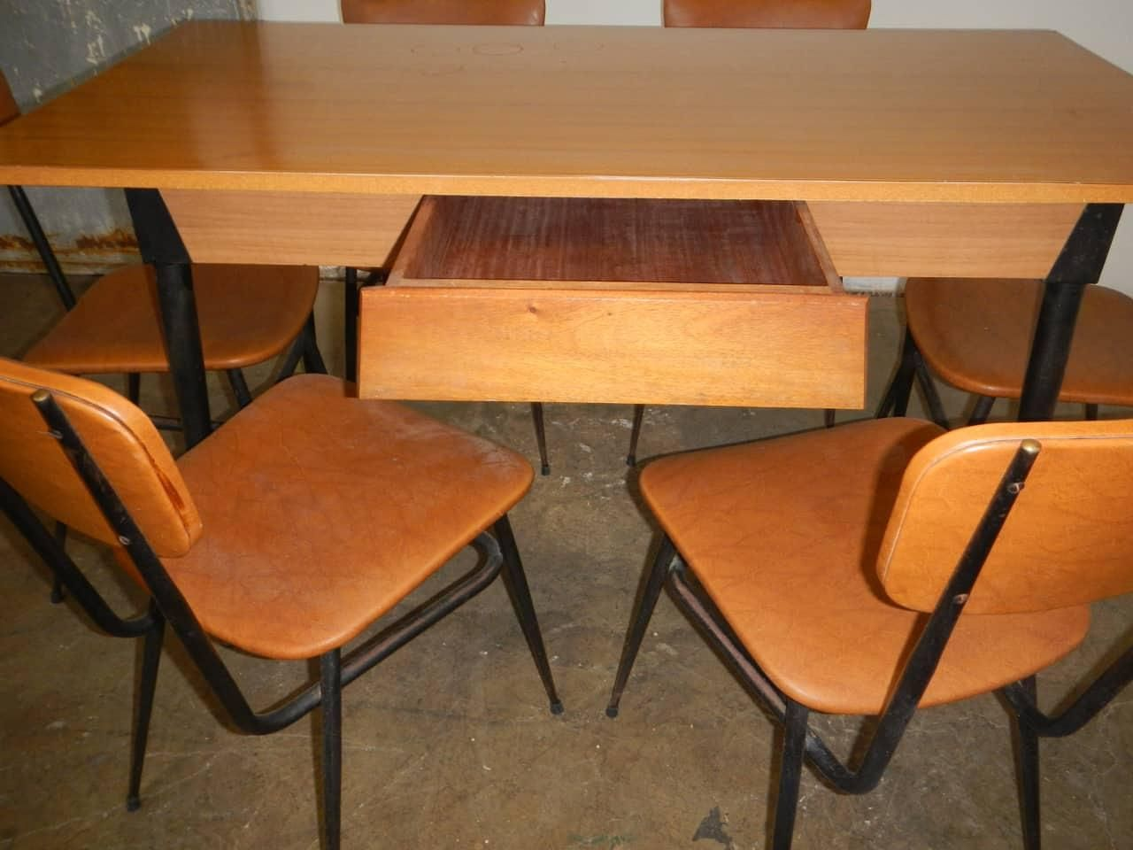 Vintage Dining Room Set 1950s Formica Table And Chairs